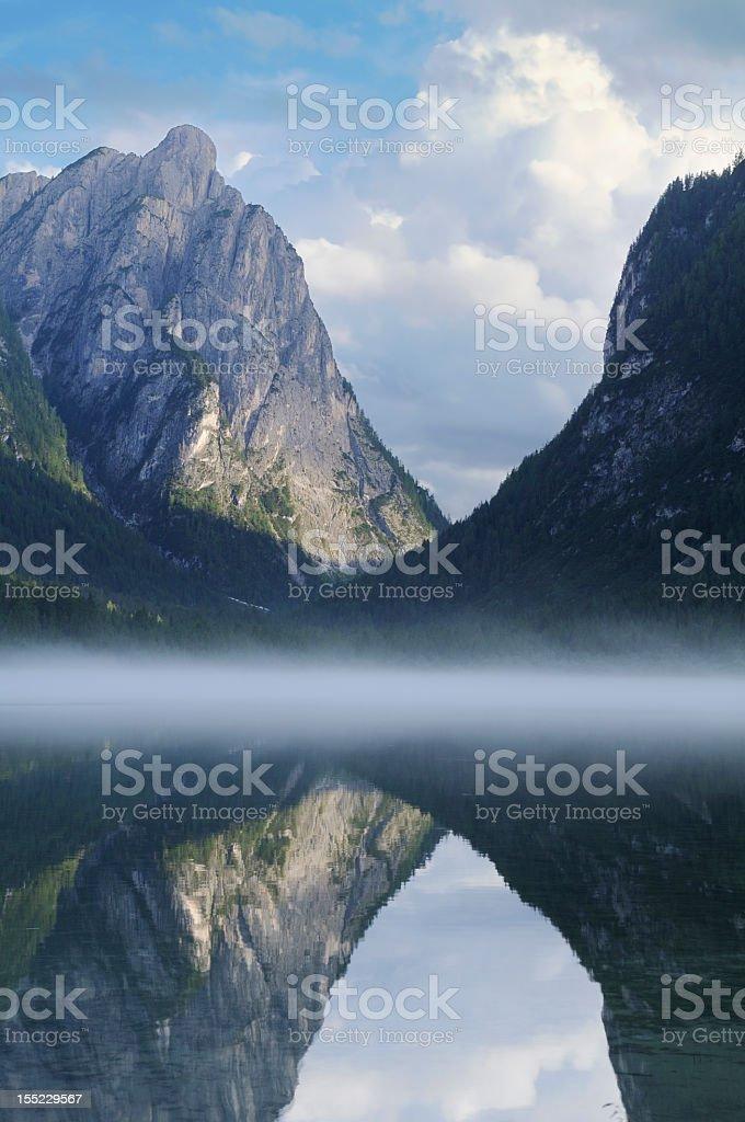 Toblach Lake (Dobbiaco - Italy) stock photo