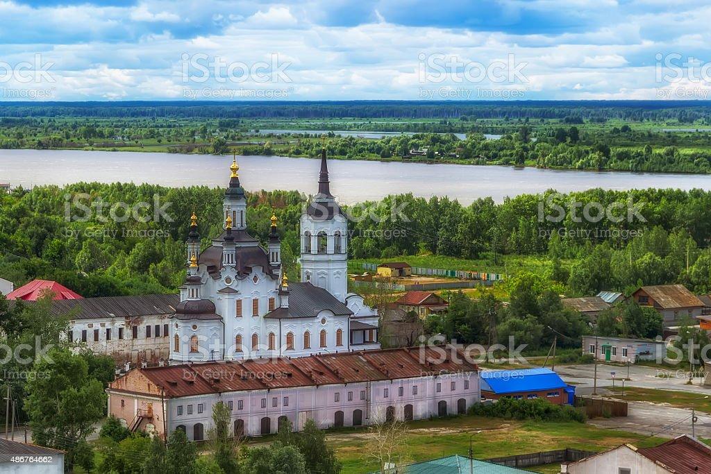 Tobolsk Church Zachariah and Elizabeth centre top view stock photo