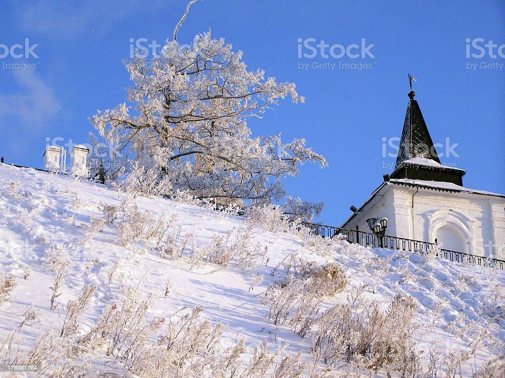 Tobolsk Kremlin. South-west tower royalty-free stock photo