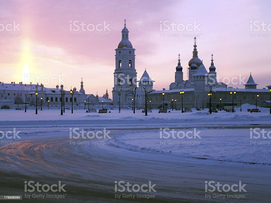 Tobolsk Kremlin. View on the seating yard royalty-free stock photo