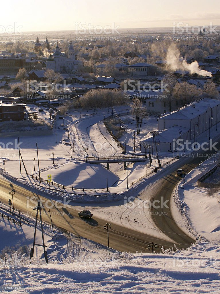 Tobolsk. View of the downtown. royalty-free stock photo