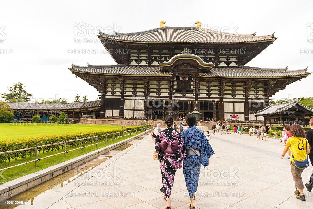 Todaiji Temple in Nara, Japan stock photo