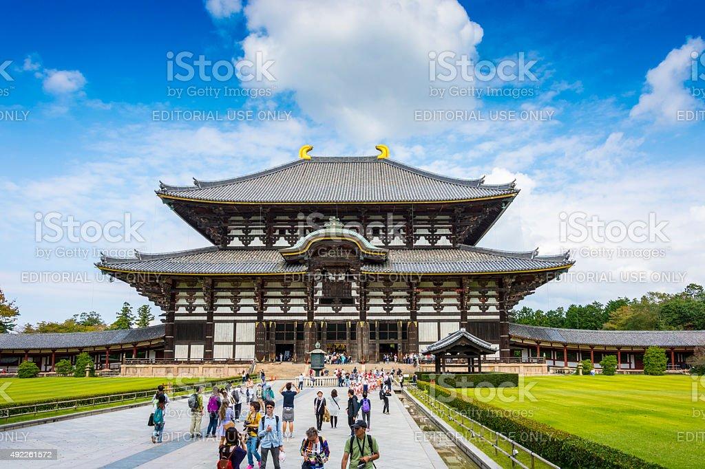 Todaiji's main hall - Daibutsuden, Nara stock photo