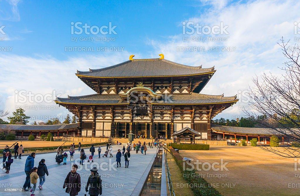 Todaiji's main hall,the Daibutsuden, Nara stock photo