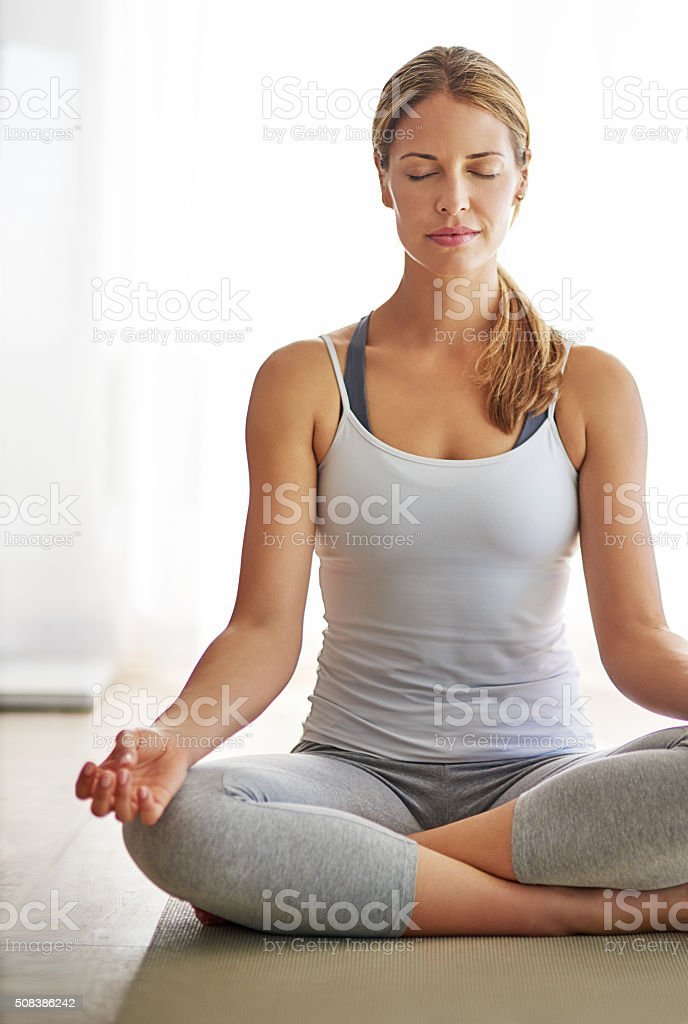 Today I choose to be calm stock photo