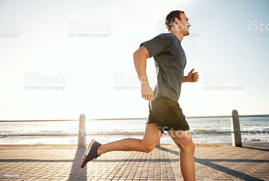 Today I shall be one run stronger stock photo