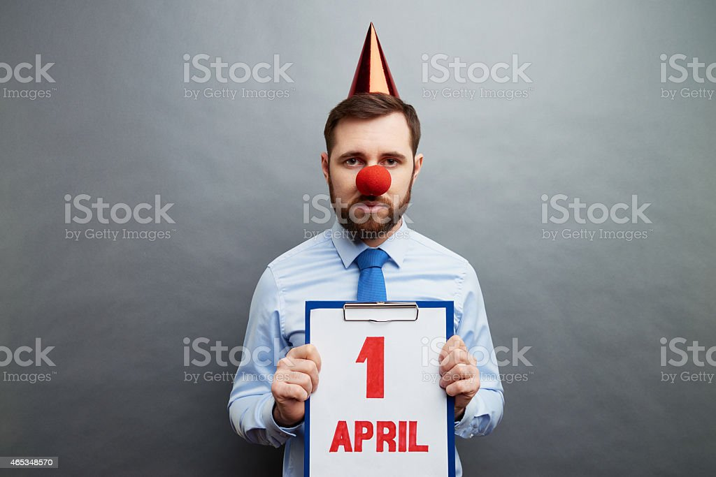 Today is April fools day stock photo