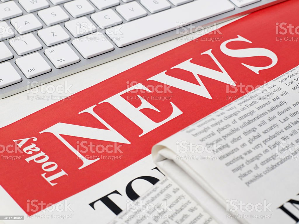 Today news stock photo