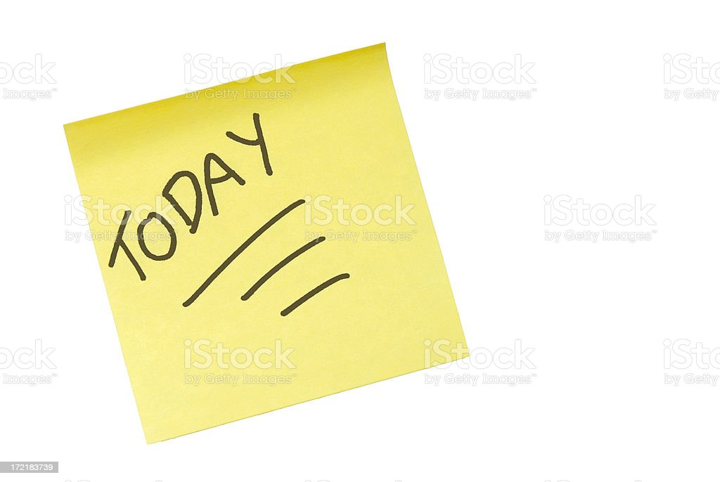 Today! stock photo