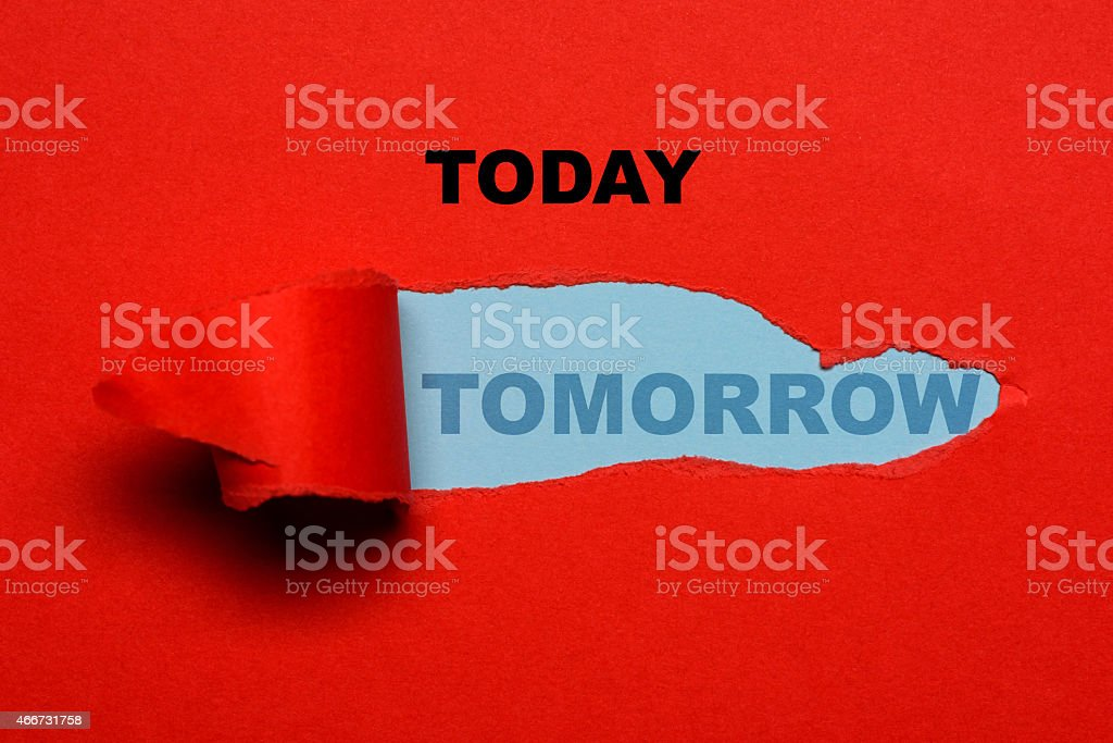 today, tomorrow stock photo