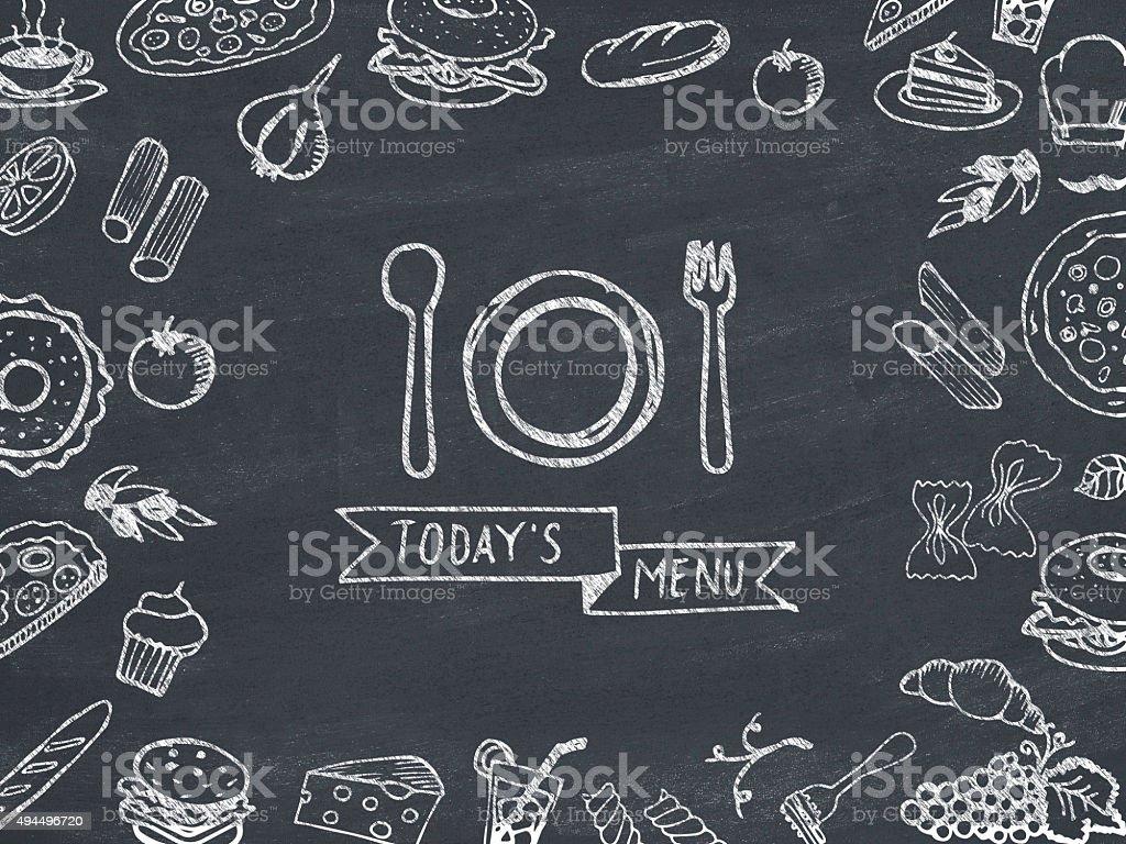 Today's menu stock photo
