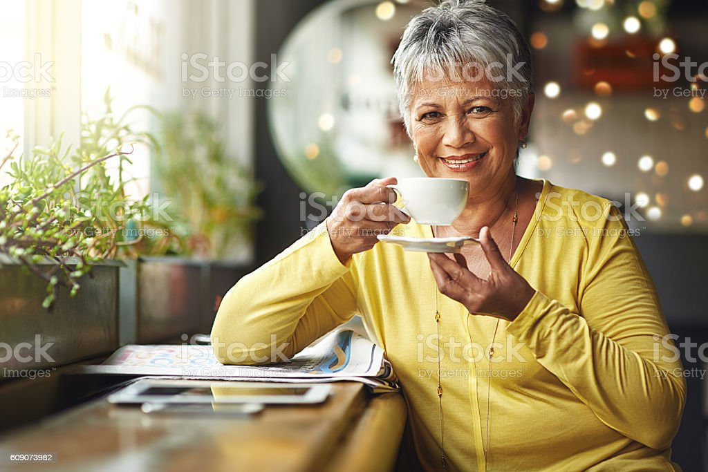 Today's mood is sponsored by coffee stock photo