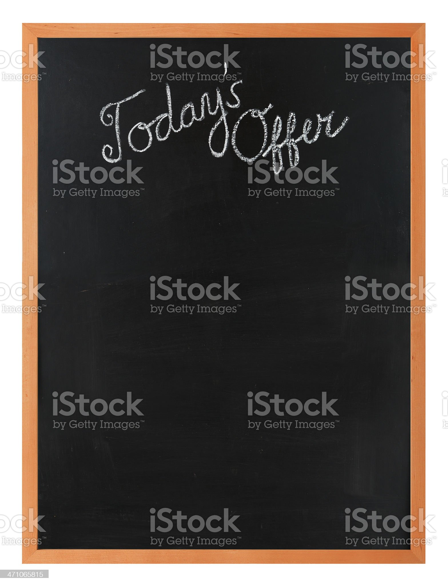'Today's Offer'  Blackboard royalty-free stock photo