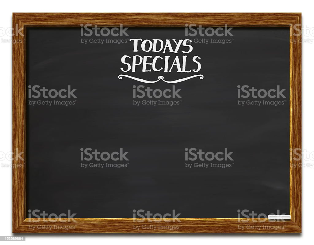Todays Specials royalty-free stock photo