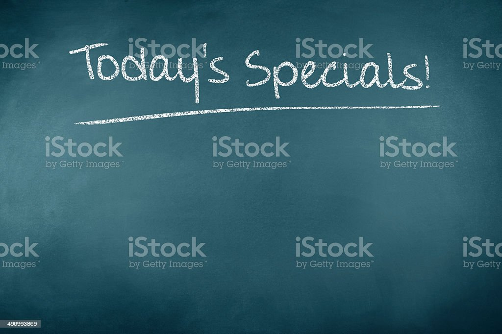 Today's Specials! stock photo