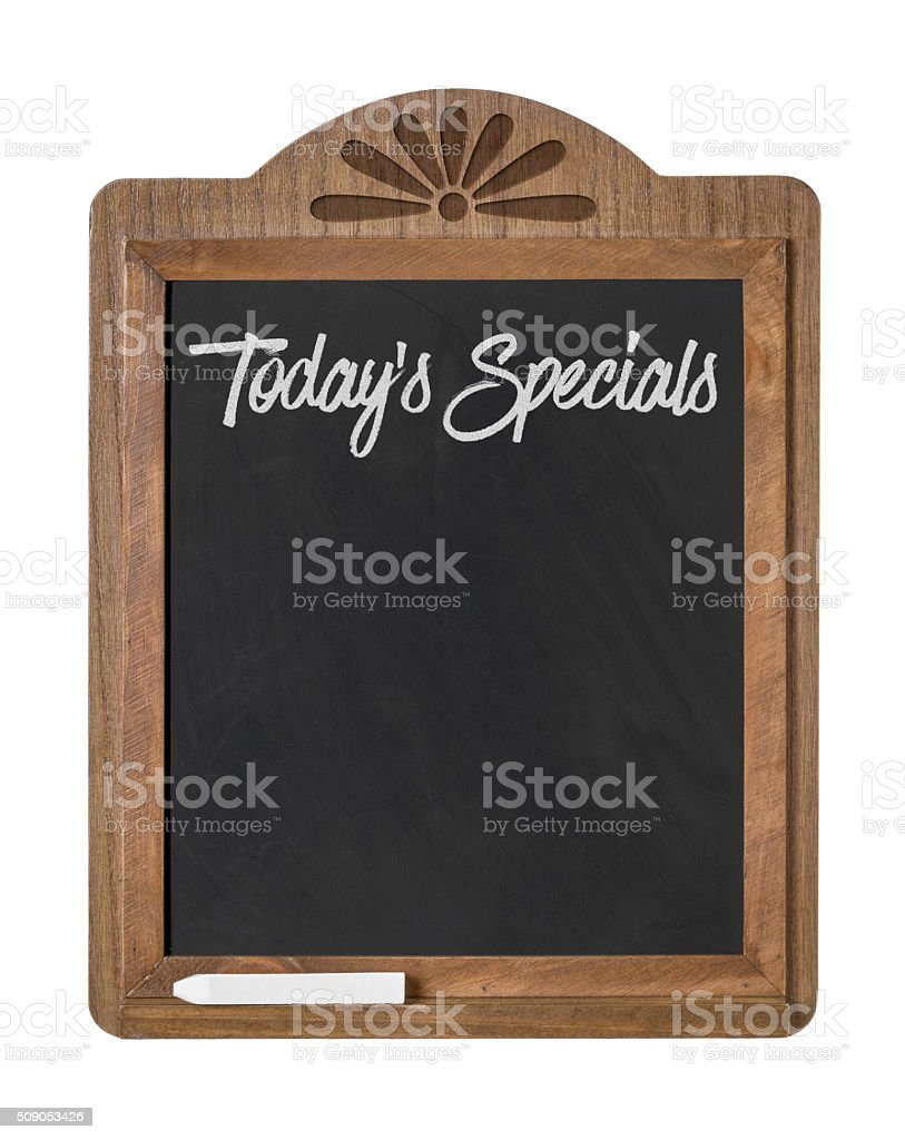 Todays Specials stock photo