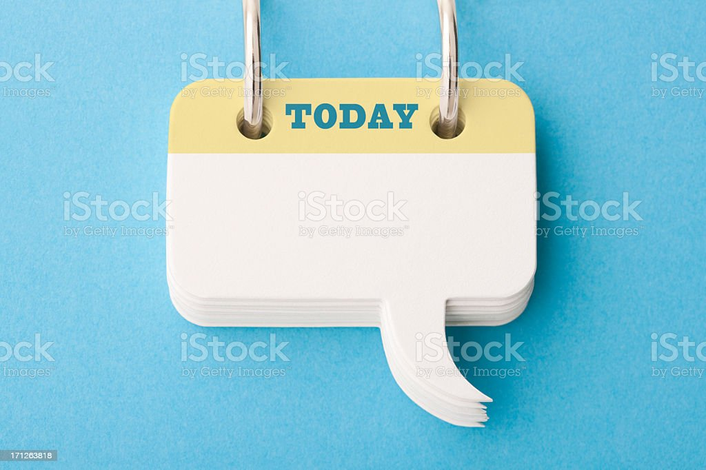 Today's To Do List stock photo