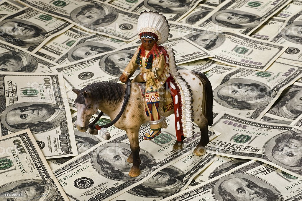 Today's US American Indian royalty-free stock photo