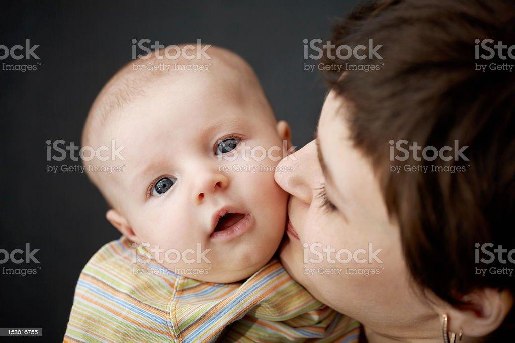 toddler and mum royalty-free stock photo