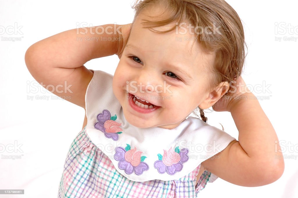 Toddler - Arms behind head royalty-free stock photo