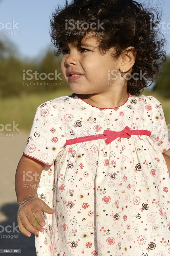 Toddler at the Beach royalty-free stock photo