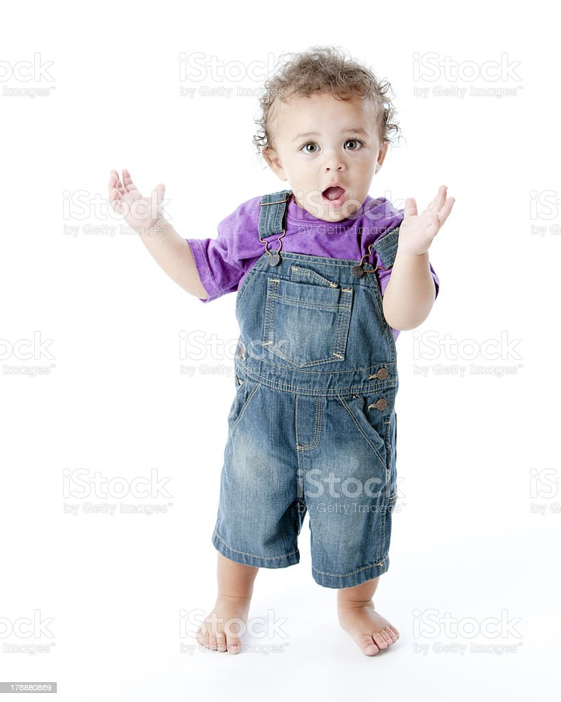 Toddler Boy with Surprised Expression royalty-free stock photo