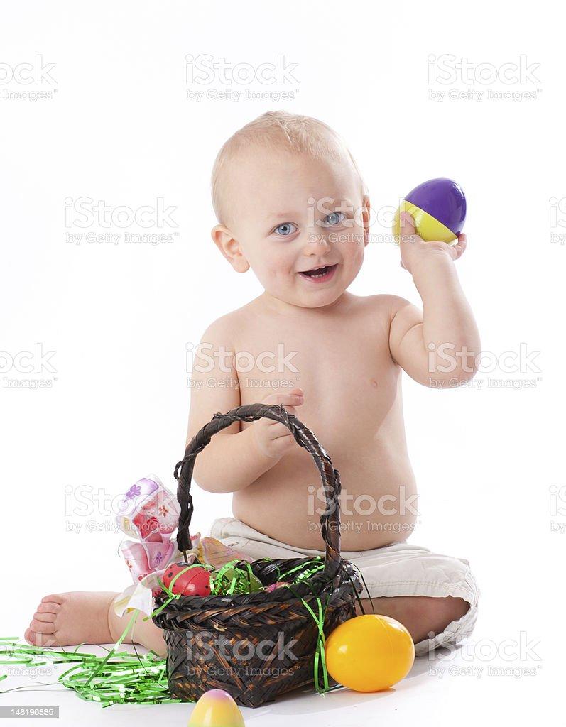 Toddler Enjoying Easter royalty-free stock photo