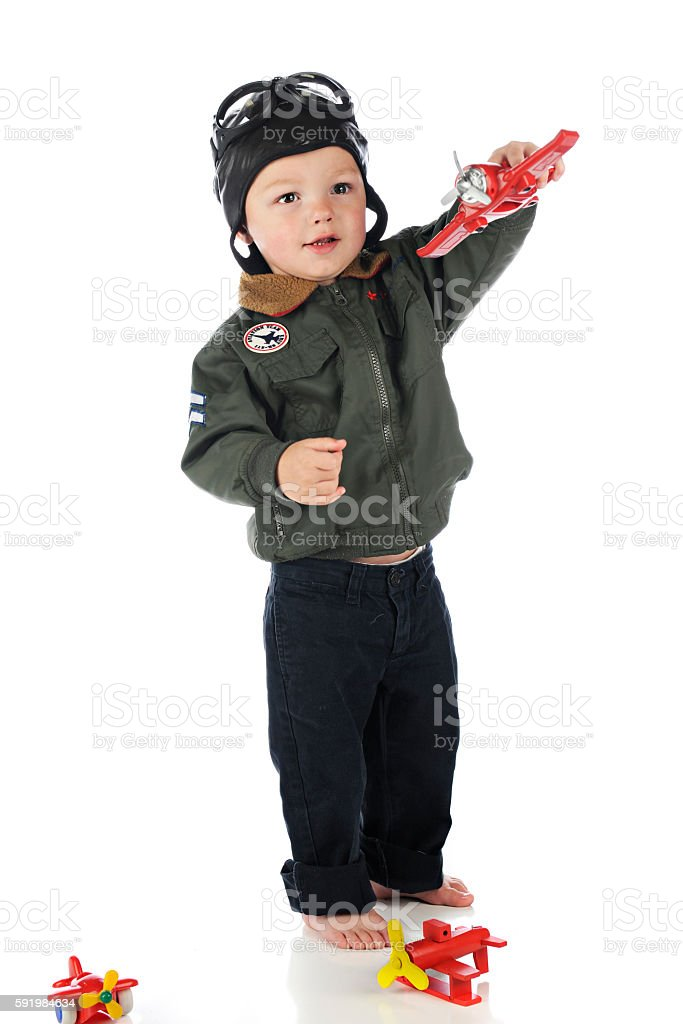 Toddler Flight stock photo