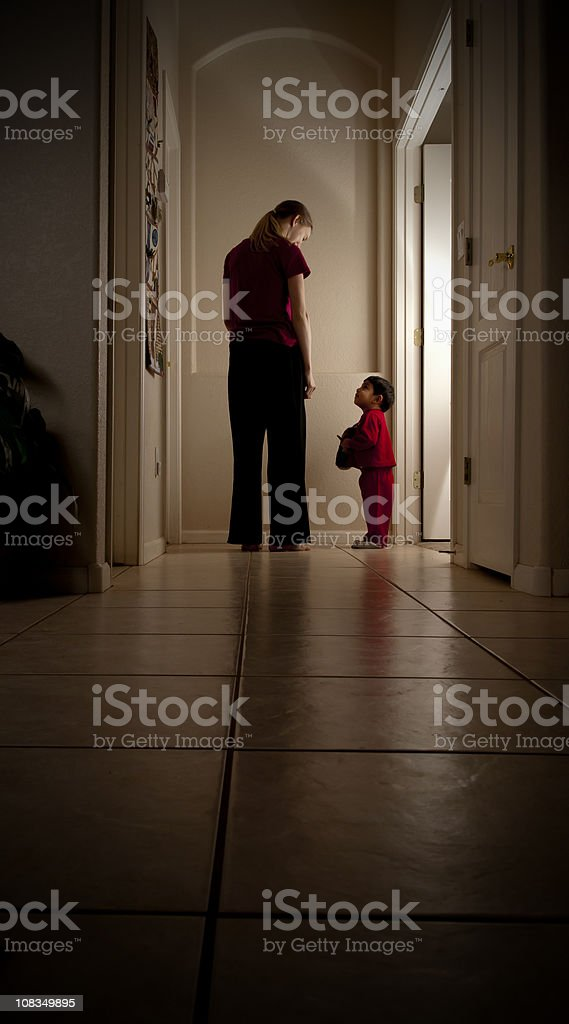 Toddler going to Bed stock photo