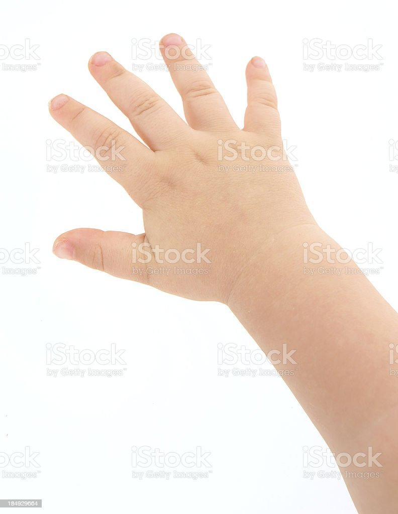 Toddler Hand stock photo