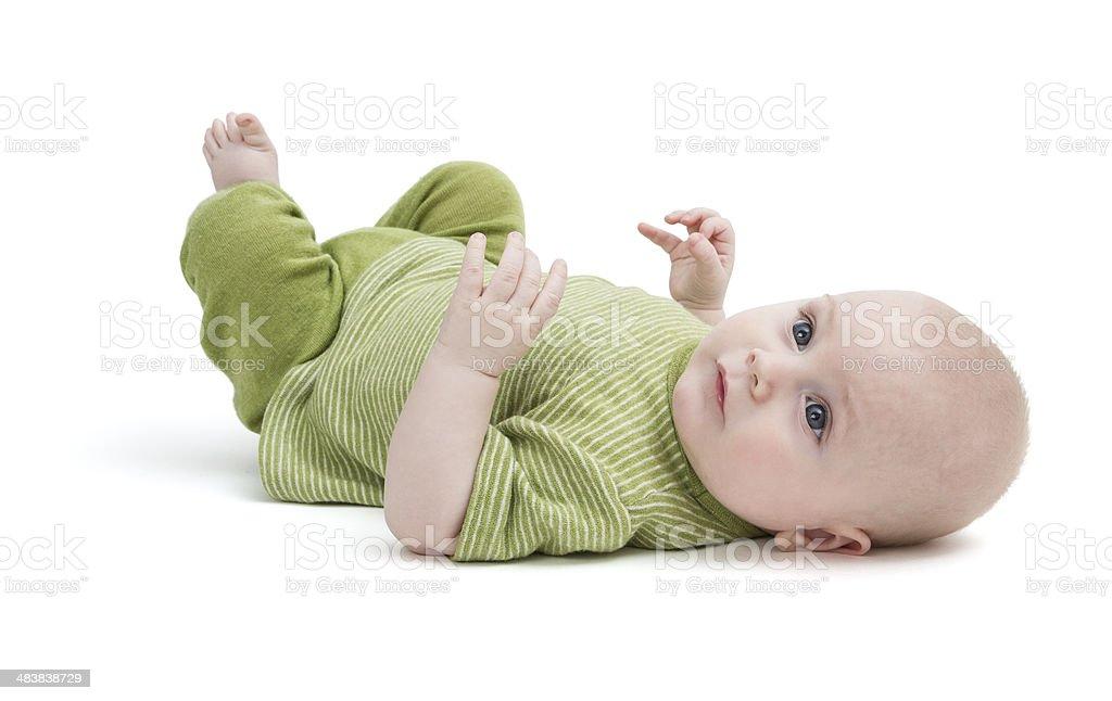 toddler isolated on white background stock photo
