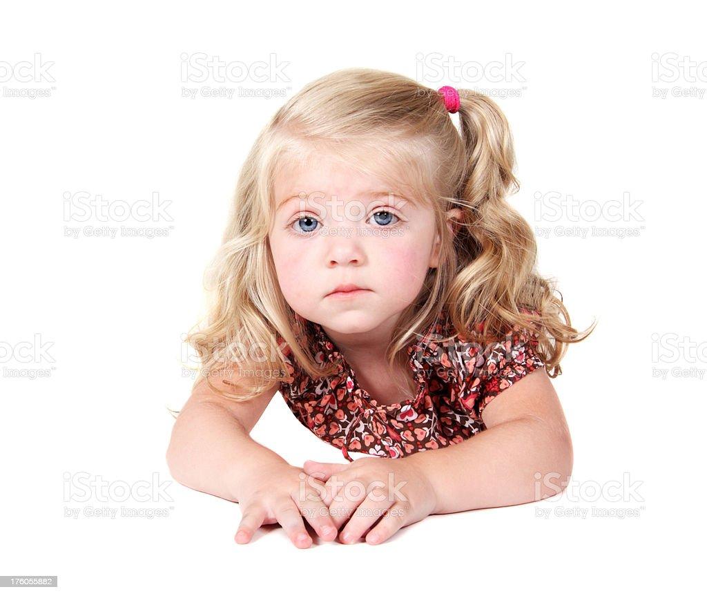 Toddler Lying Down royalty-free stock photo