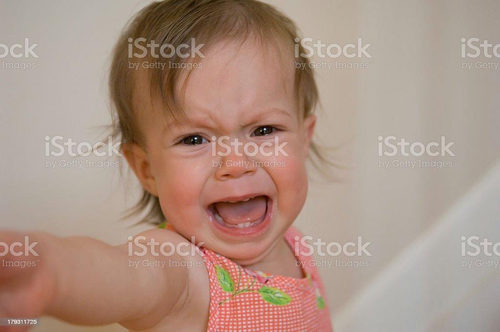 Toddler Moment (Temper Tantrum) royalty-free stock photo