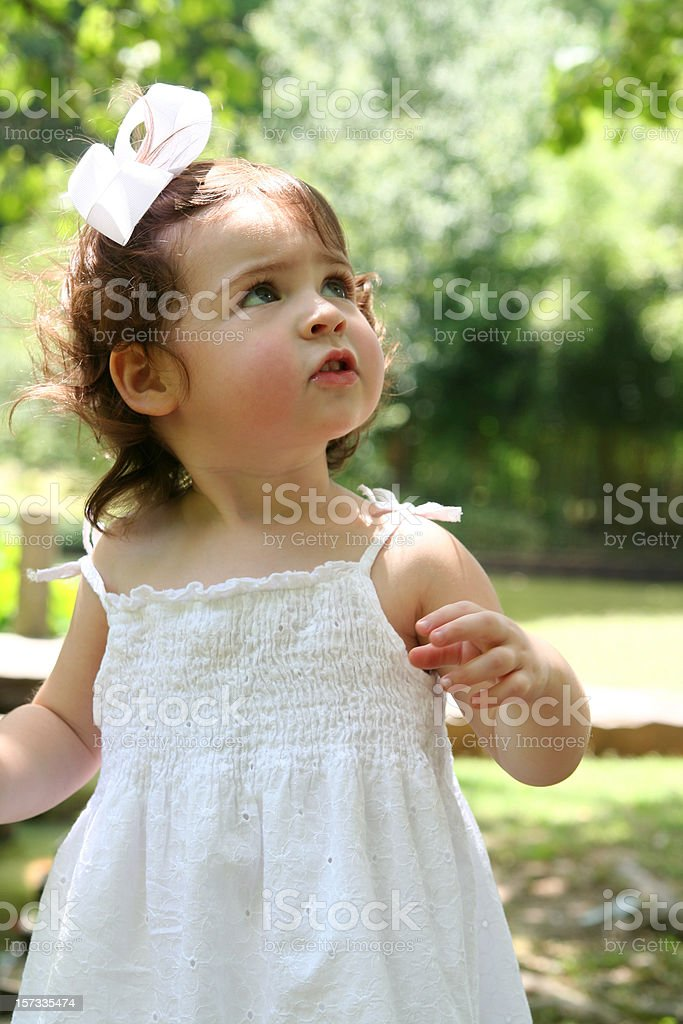 Toddler Outside royalty-free stock photo
