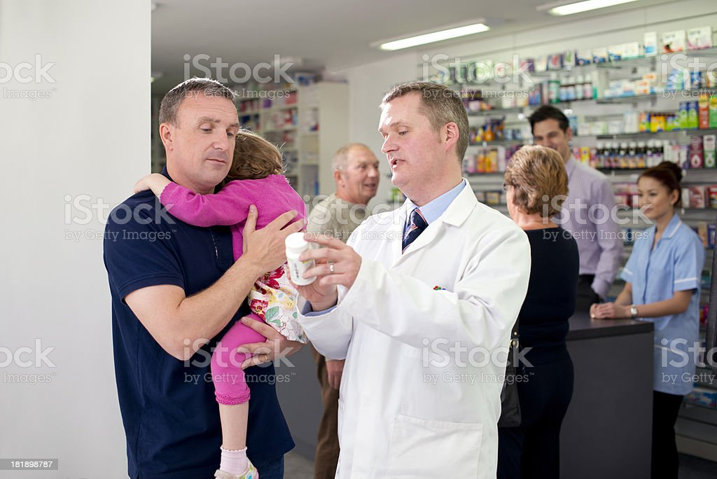 toddler pharmacy advice royalty-free stock photo