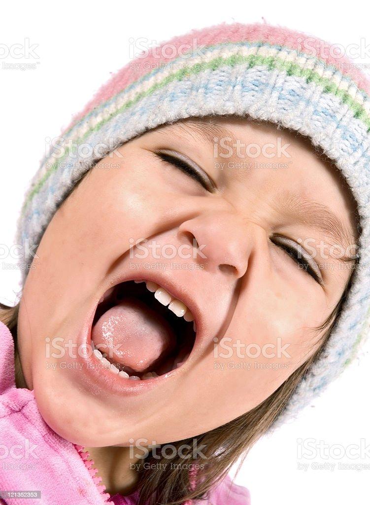 Toddler Screaming royalty-free stock photo