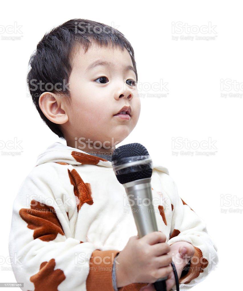 Toddler singer. royalty-free stock photo