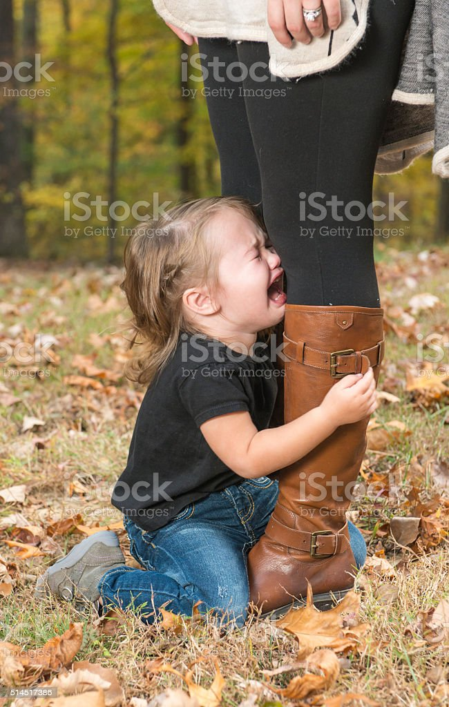 Toddler Tantrum stock photo