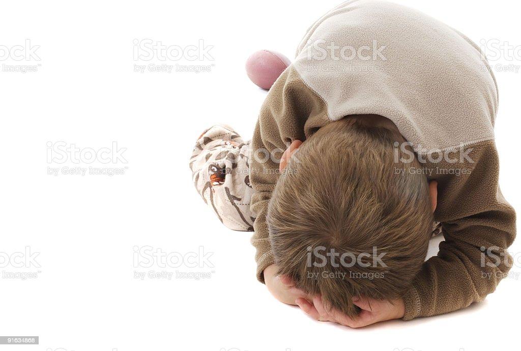 Toddler temper tantrum stock photo
