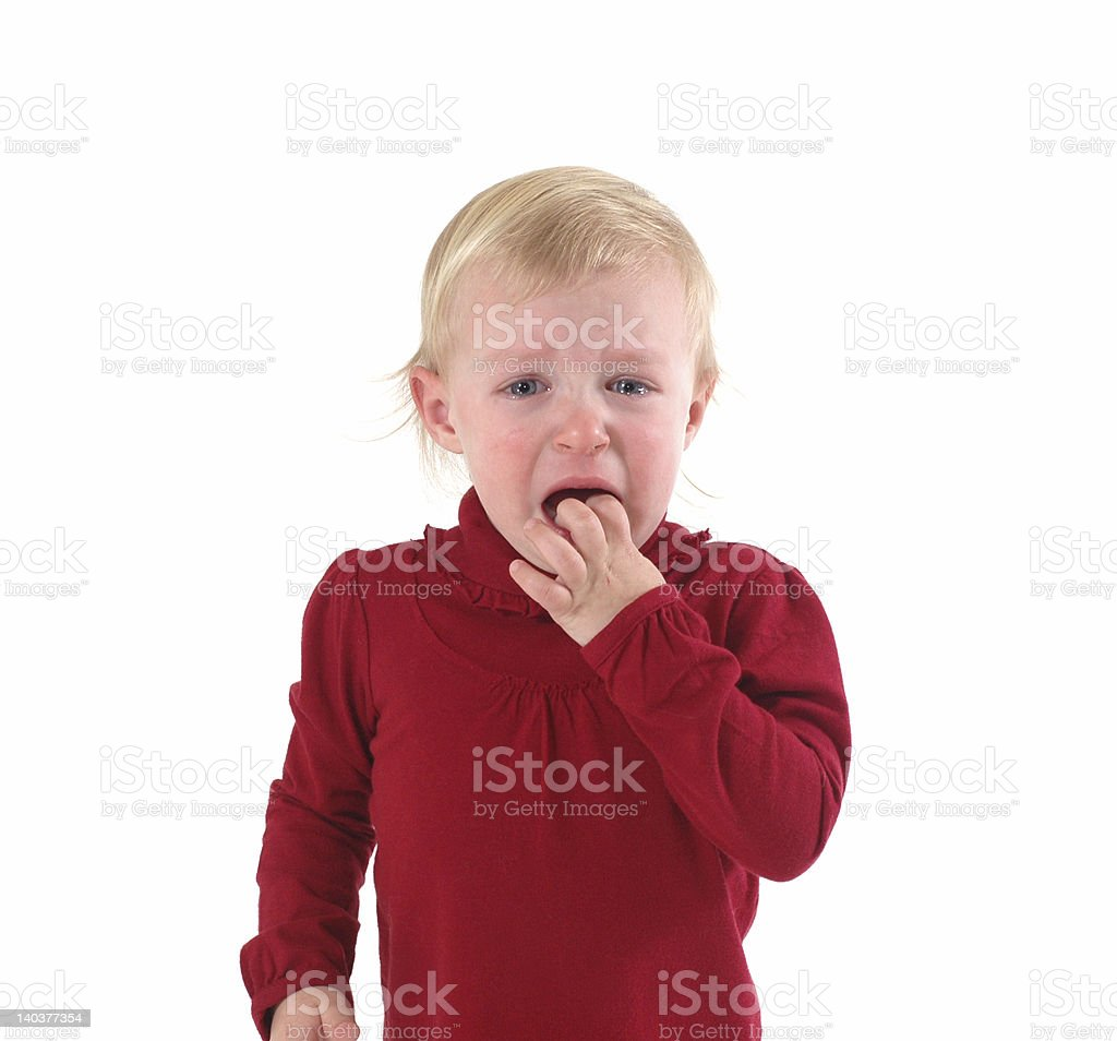 Toddler Upset royalty-free stock photo