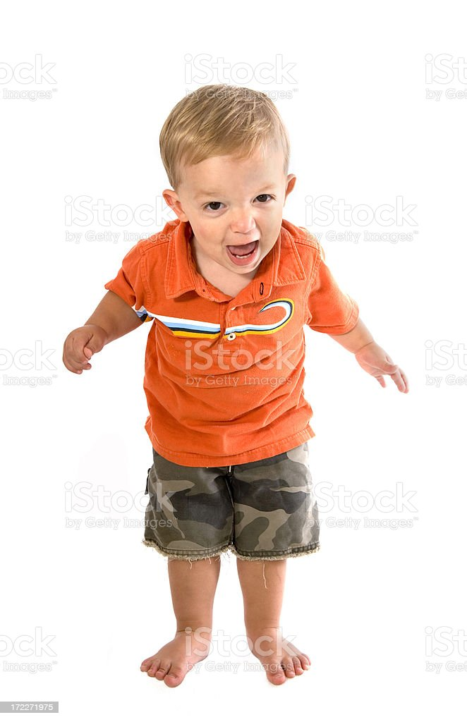 toddler with a temper royalty-free stock photo