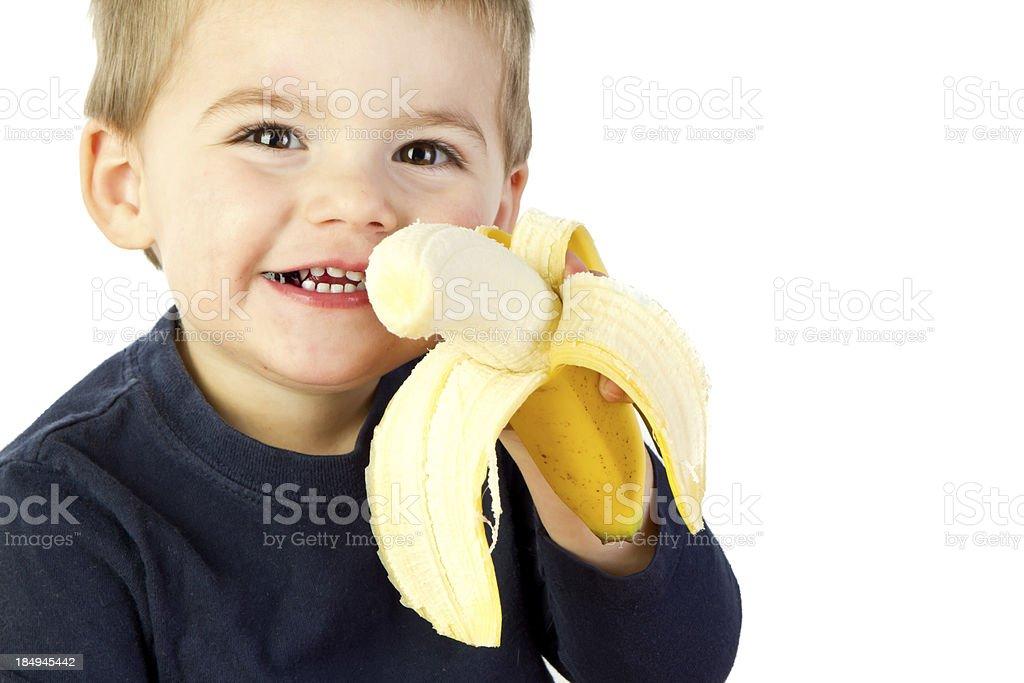 Toddler with Banana royalty-free stock photo