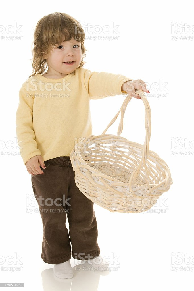 Toddler with Easter Basket royalty-free stock photo