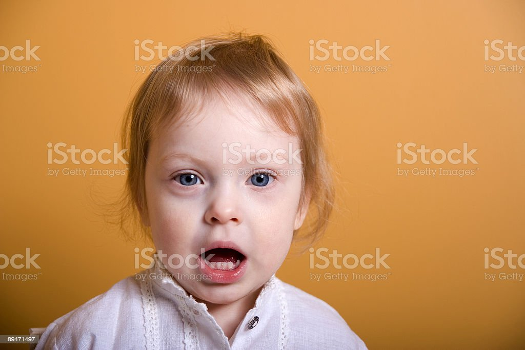 Toddler with Mouth Wide Open royalty-free stock photo