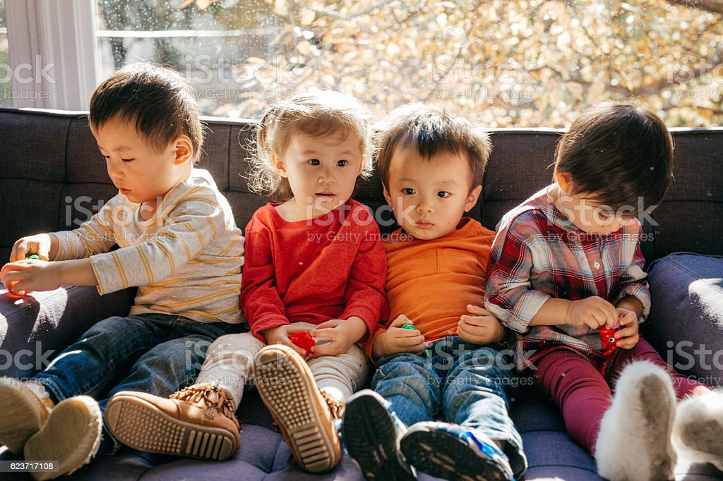 Toddlers group stock photo