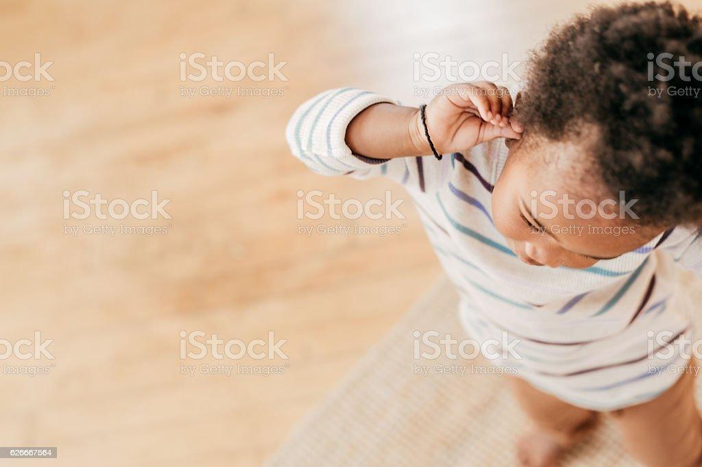 Toddlers tantrum stock photo