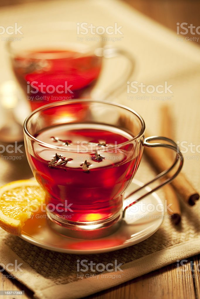 toddy or mulled wine royalty-free stock photo