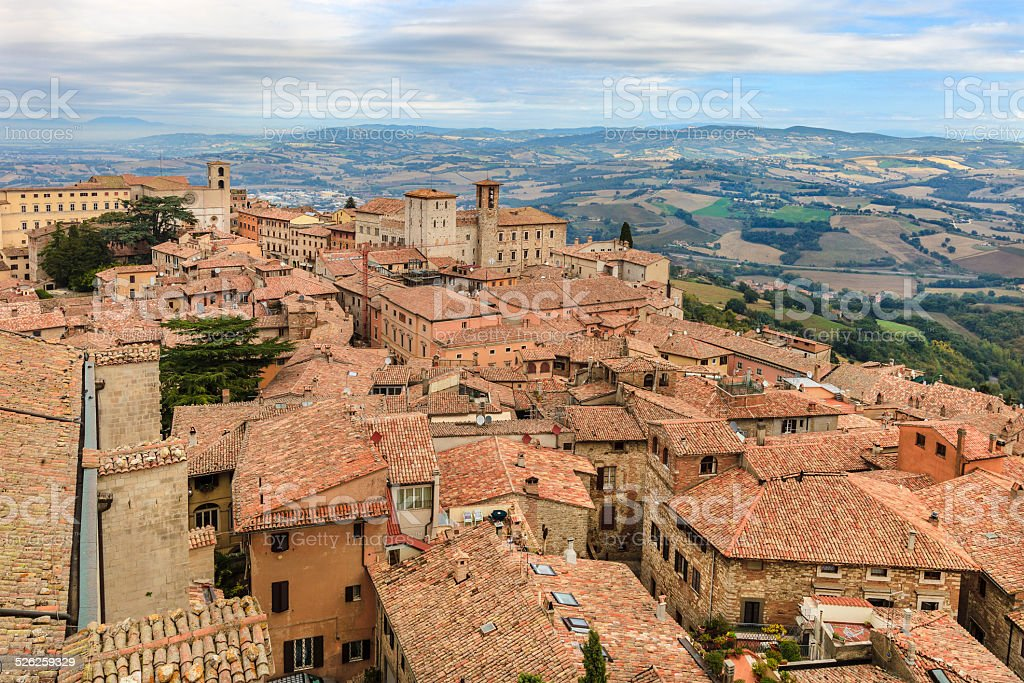 Todi, Italy stock photo