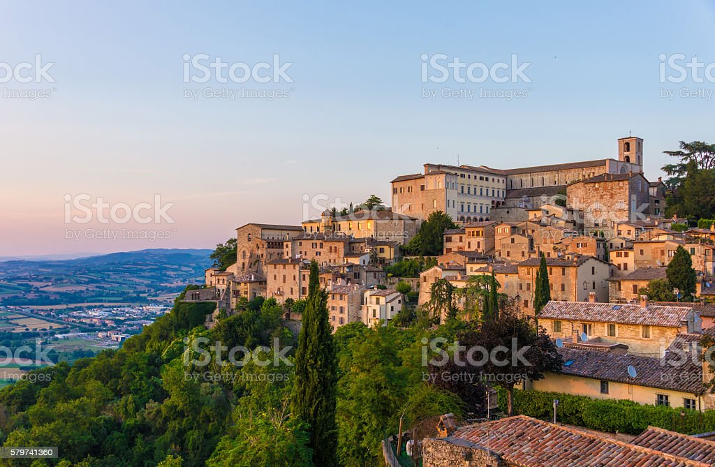 Todi (Umbria, Italy) stock photo