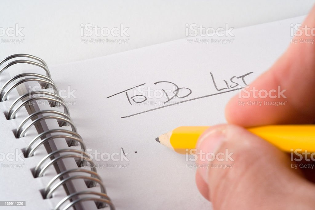 To-Do List royalty-free stock photo